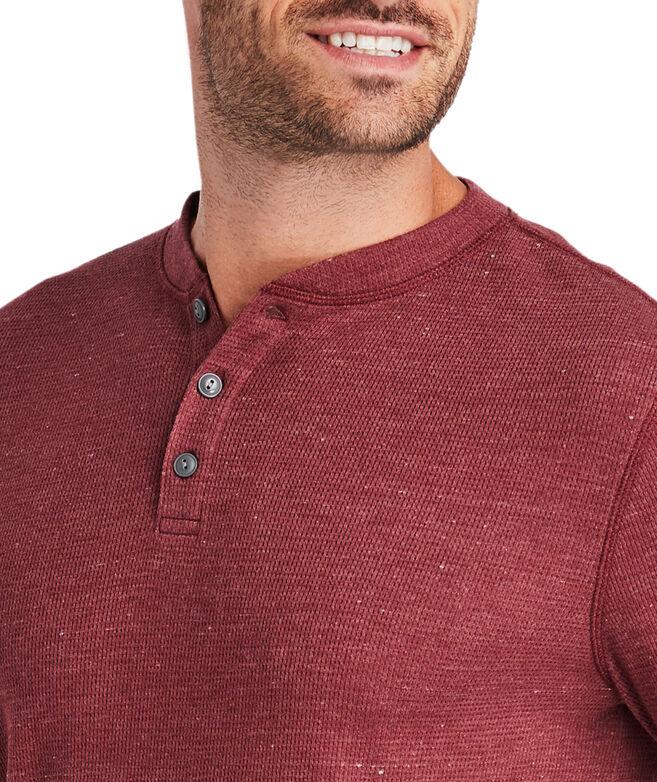 Timber Waffle Long-Sleeve Henley Shirt