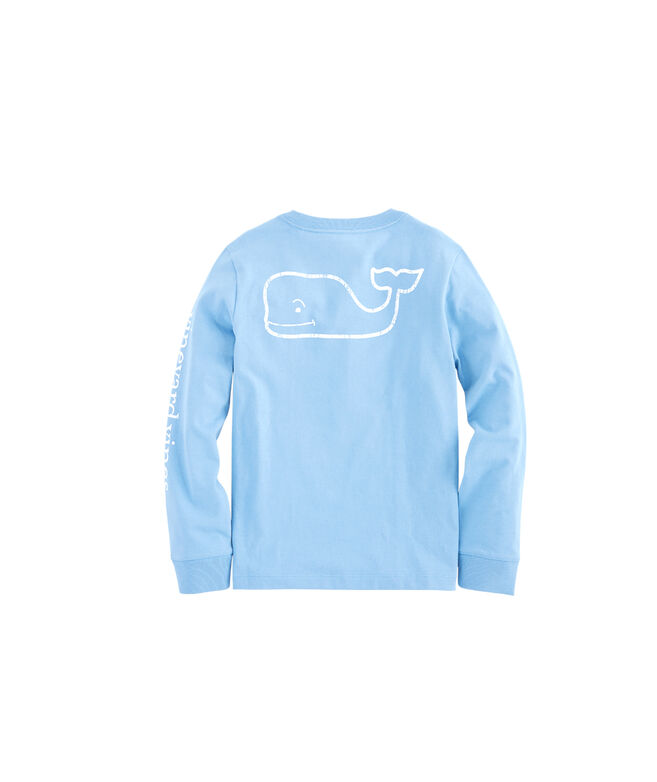 Kids Long-Sleeve Vintage Whale Graphic T-Shirt