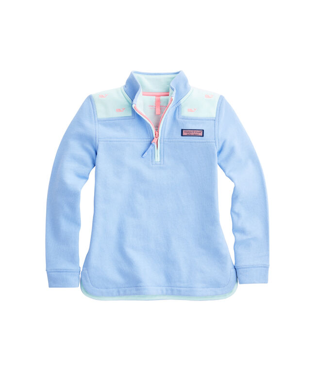 Girls Colorblock Party Whale Relaxed Shep Shirt