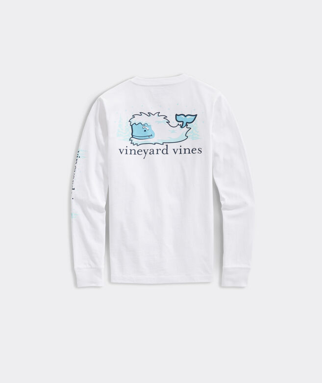 Kids' Yeti Whale Long-Sleeve Pocket Tee