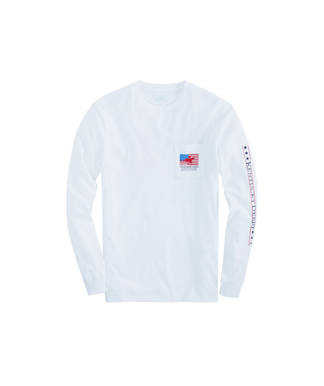 Long-Sleeve Kentucky Derby USA Derby Pocket T-Shirt