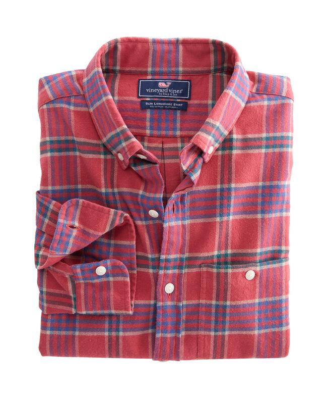 Slim Fit Halyard Flannel Longshore Button-Down Shirt