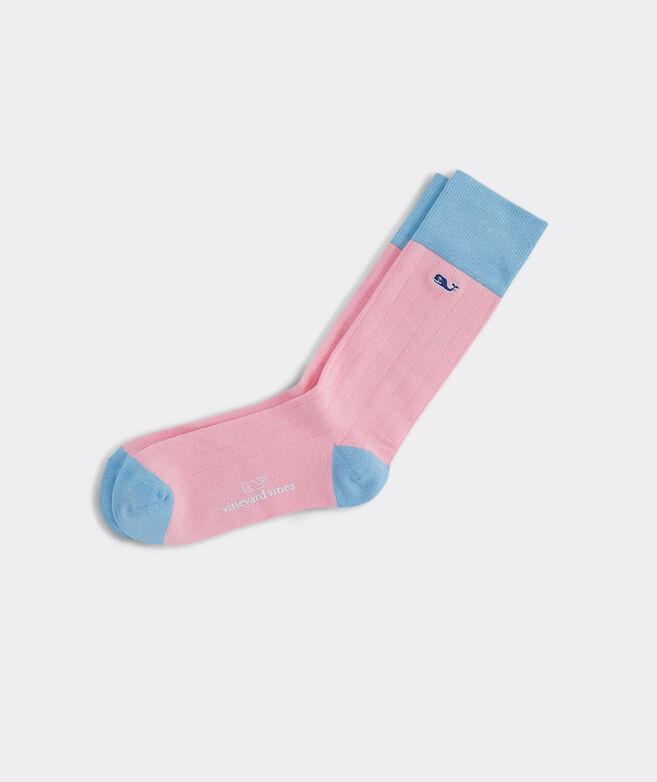 Solid Colorblock Socks