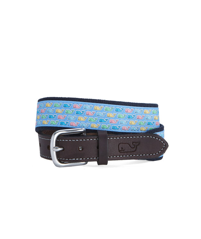 Boys Easter Whale Canvas Club Belt