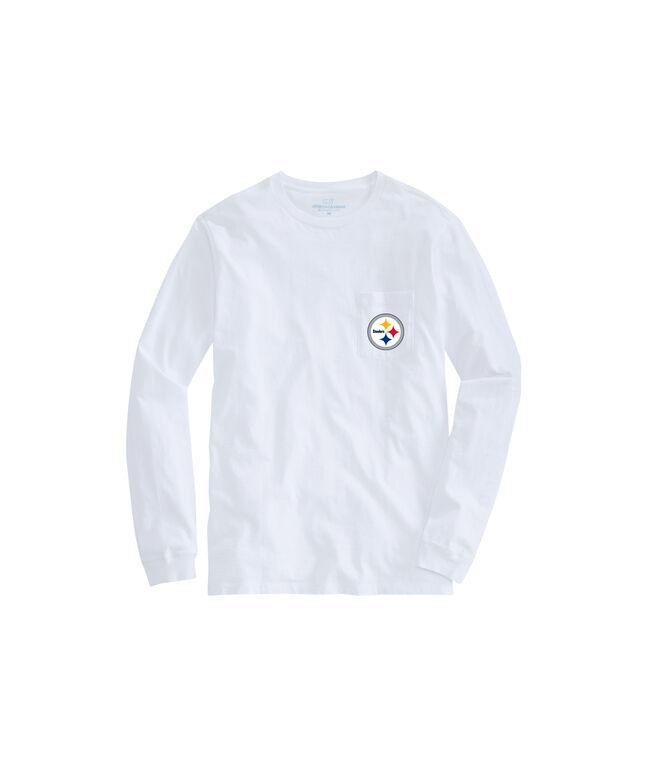 Pittsburgh Steelers Long-Sleeve Block Stripe T-Shirt