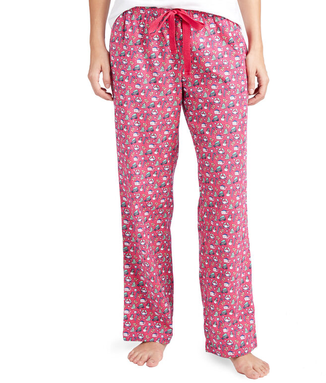 Multi Icon Flannel Lounge Pants