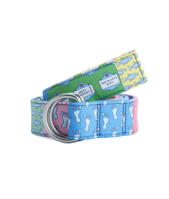 Patchwork D-Ring Belt