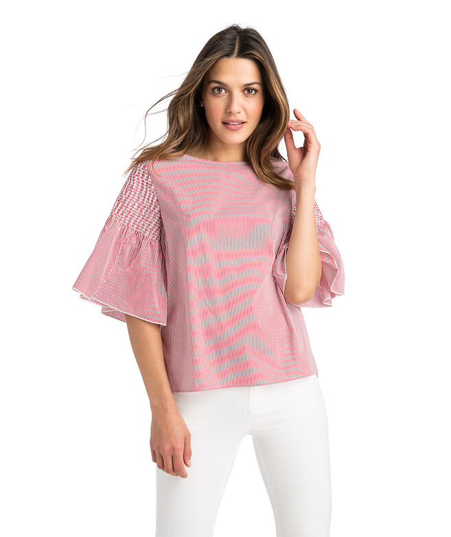 Smocked Flutter Sleeve Top