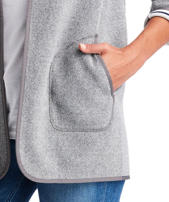 Sweater Fleece Open Jacket