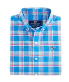 Boys Keel Boat Plaid Beach Tartan Whale Shirt