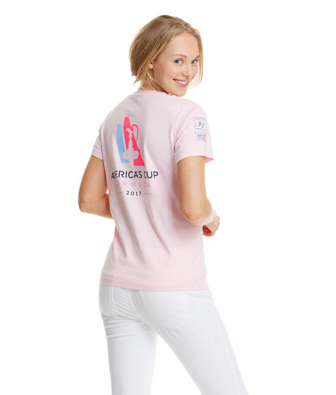 Women's America's Cup Logo Pocket Tee