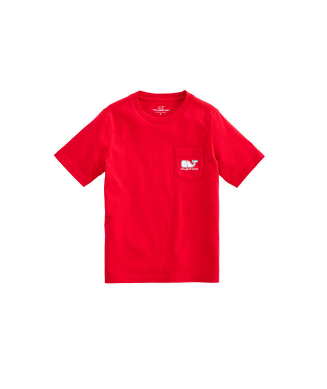 Boys Baseball Whale Pocket T-Shirt