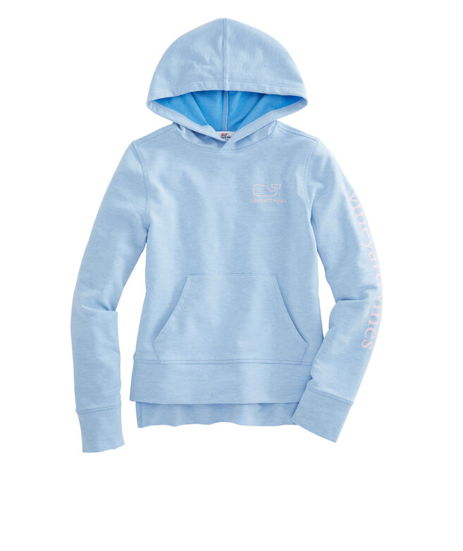 Girls French Terry Vintage Whale Hoodie