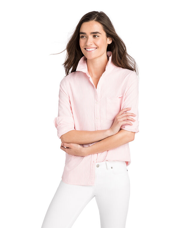 Vine Striped Chilmark Relaxed Oxford Button Down