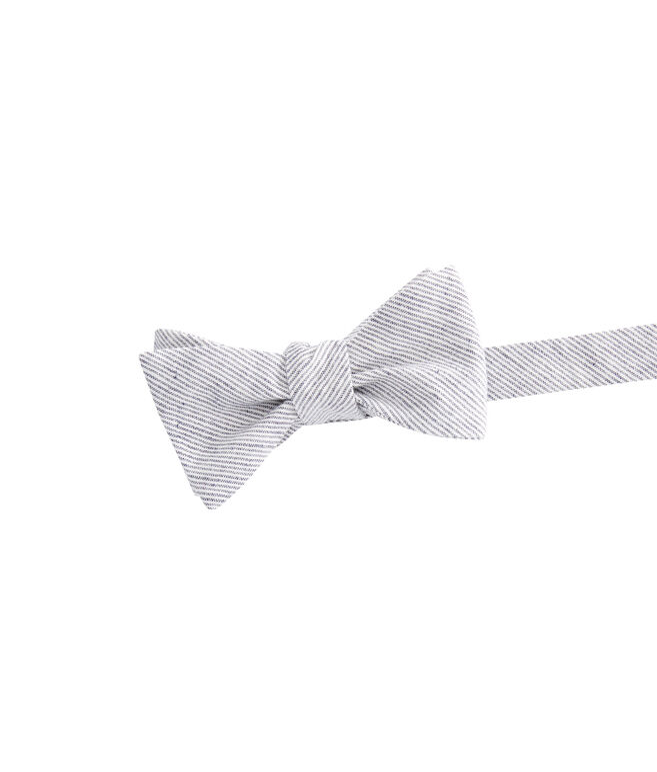 Pinstripe Woven Bow Tie