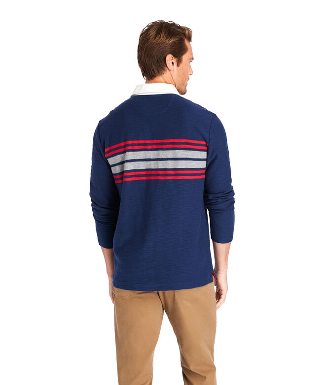 Placed Chest Stripe Rugby Shirt