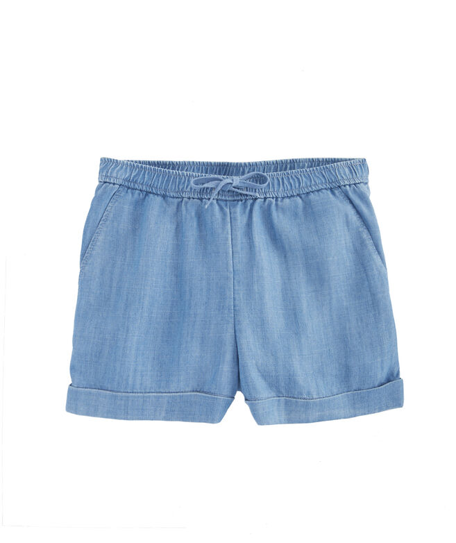 Girls Pull On Chambray Shorts