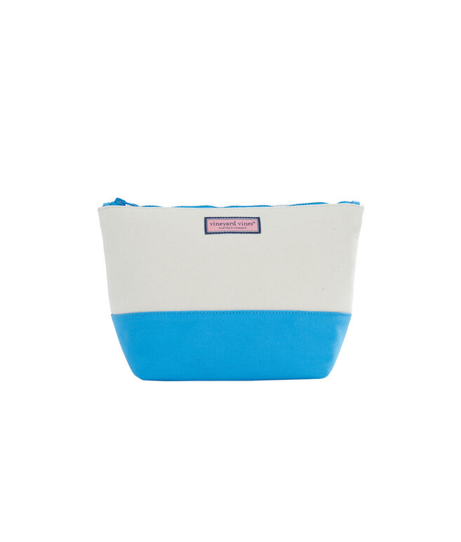 Large Canvas Cosmetic Case