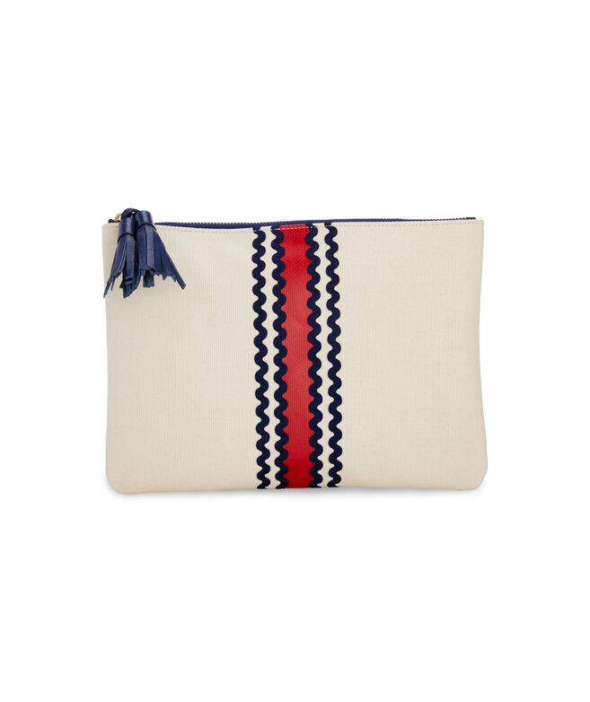Tri-Stripe Ric Rac Clutch
