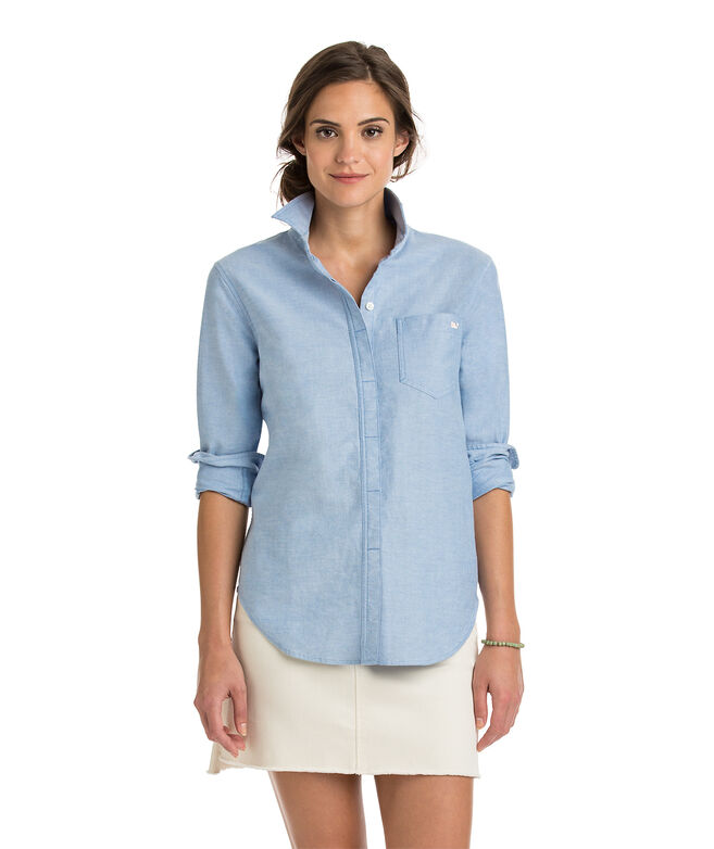 Relaxed Oxford Pocket Button-Up