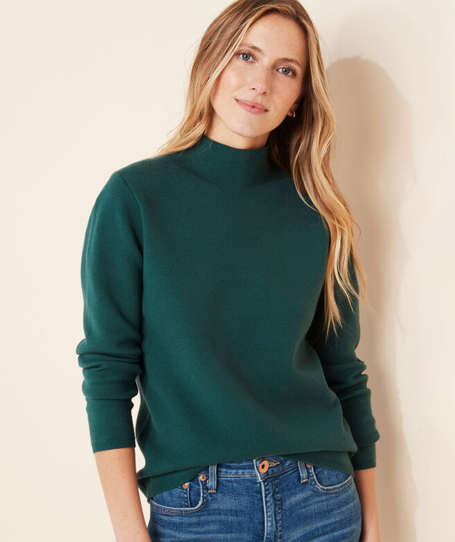 Double-Knit Mockneck Sweater