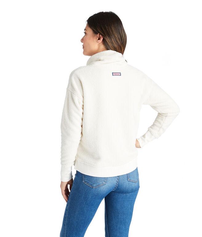Funnel Neck Boxy Sweatshirt