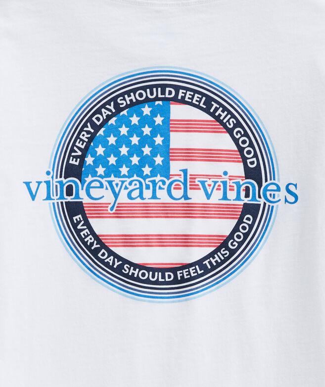 Boys' Americana Logo Long-Sleeve Pocket Tee