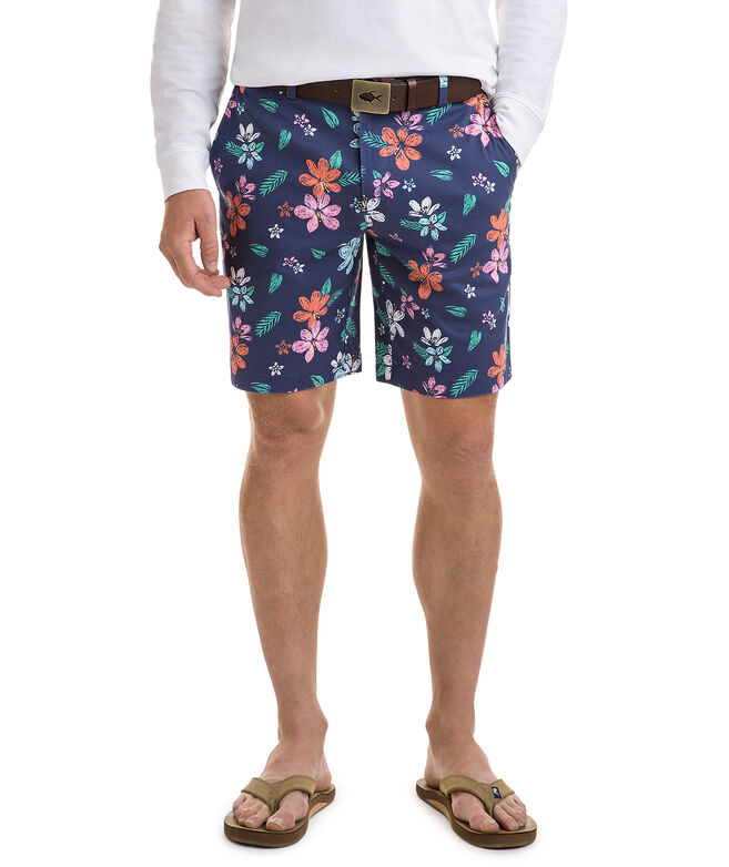 9 Inch Floral Printed Breaker Shorts