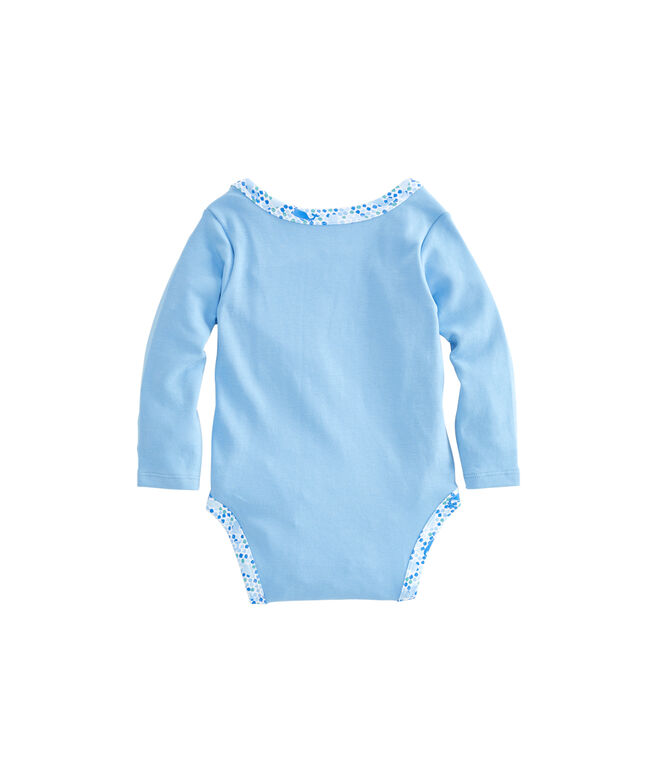 Baby Tiny Diamond Whale Print Bodysuit Set