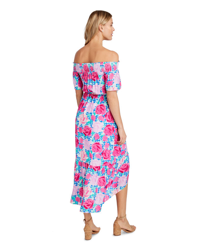 Off The Shoulder Run For The Roses Dress