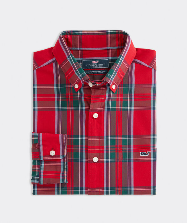 Big & Tall Classic Fit Tartan Poplin Tucker Shirt