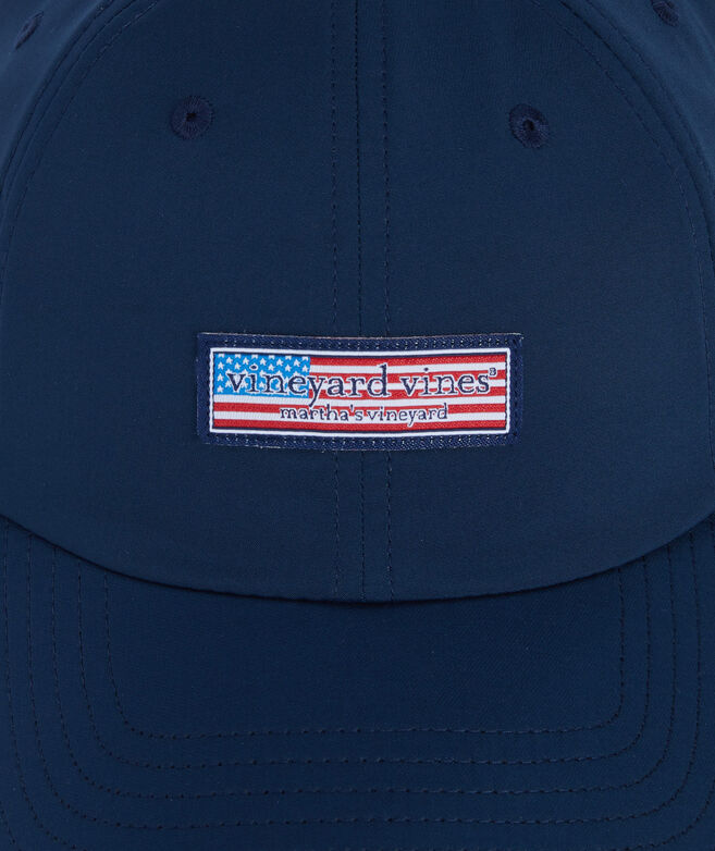 Flag Logo Box Performance Baseball Hat