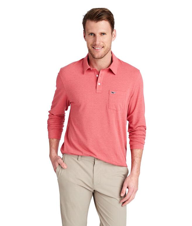 Long-Sleeve Solid Edgartown Polo