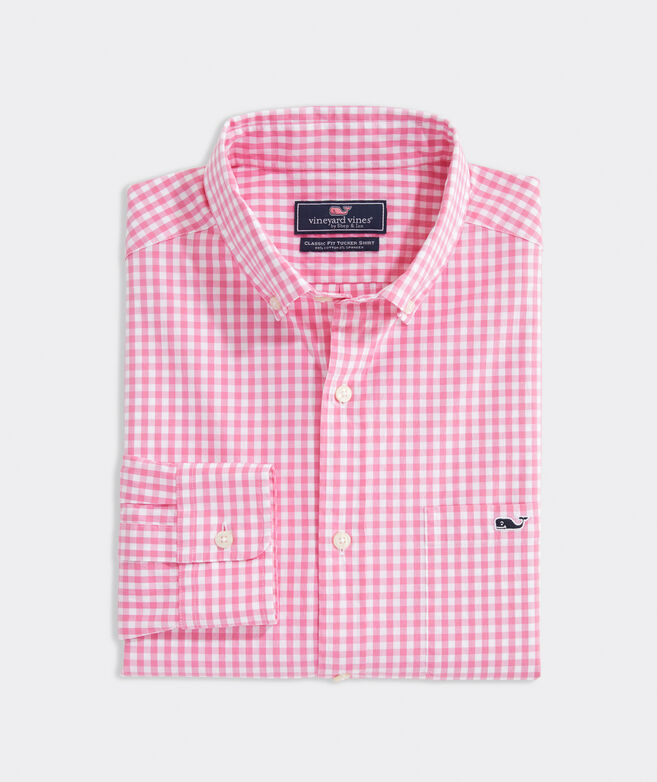 Big & Tall Gingham Shirt in Stretch Cotton