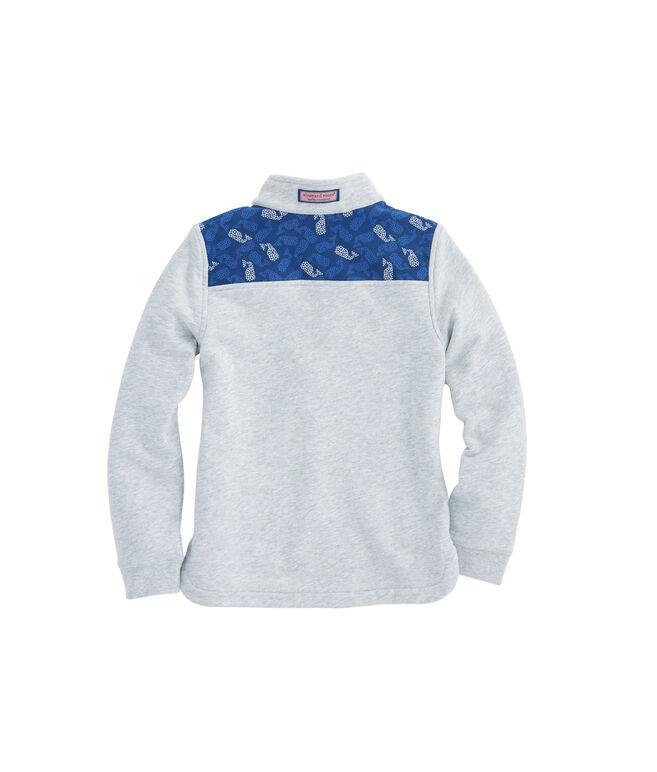 Girls Polka Dot Whale Shoulder Shep Shirt