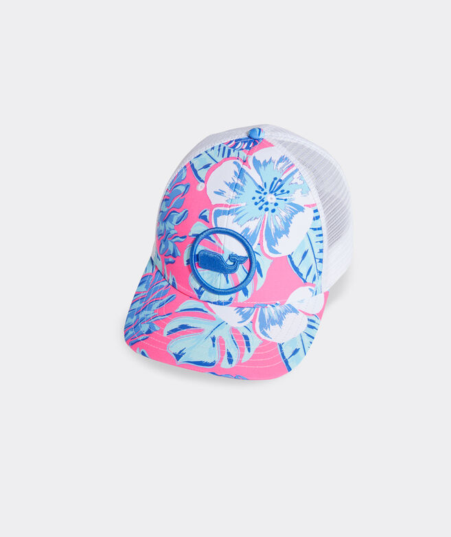Island Leaves Whale Dot Performance Trucker Hat
