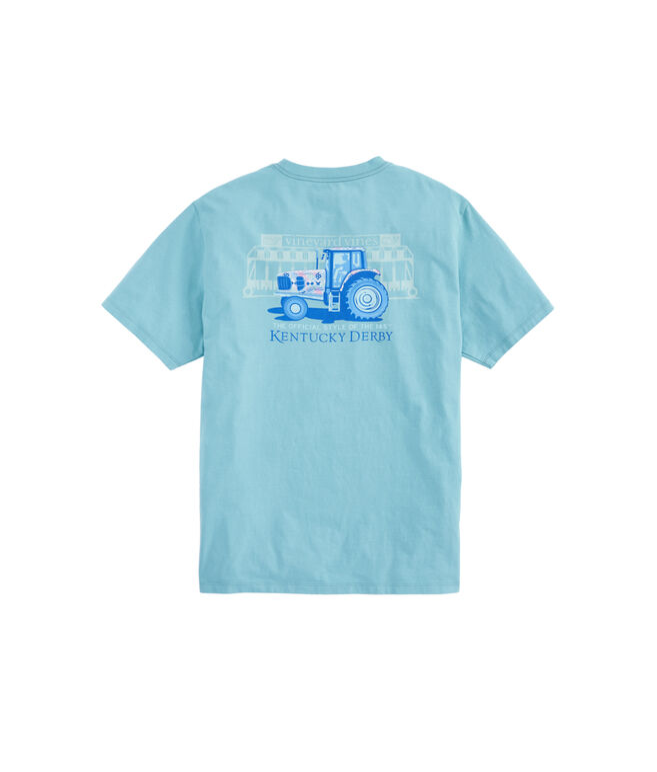Kentucky Derby Tractor Pocket T-Shirt