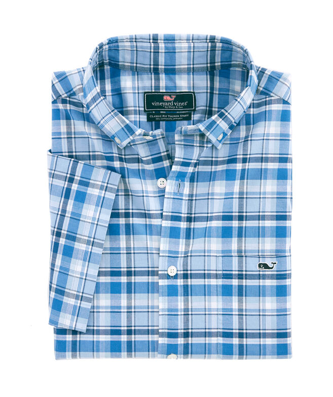 Short-Sleeve Blackbeard Plaid Classic Tucker Shirt