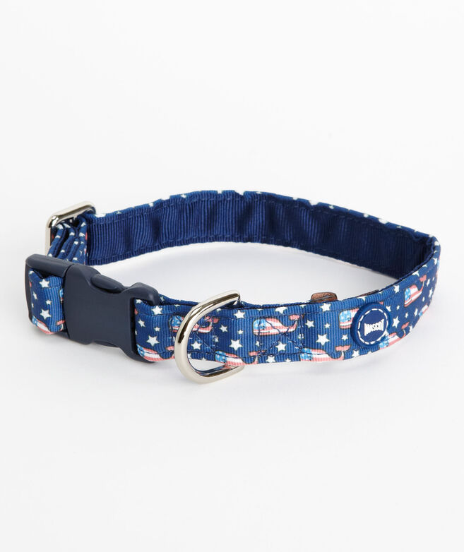 Flag Whale Dog Collar