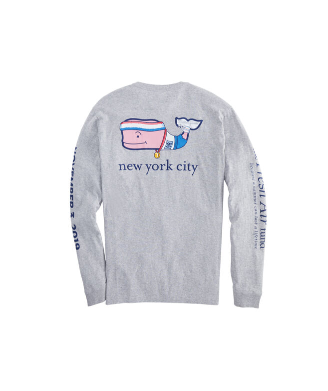 NYC Marathon Runner Whale Long-Sleeve T-Shirt