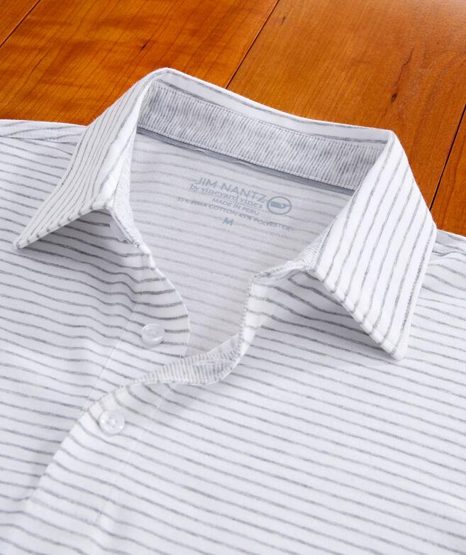 Carmel Open Stripe Heather Polo