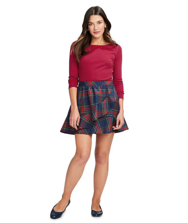 Jolly Plaid Party Skirt