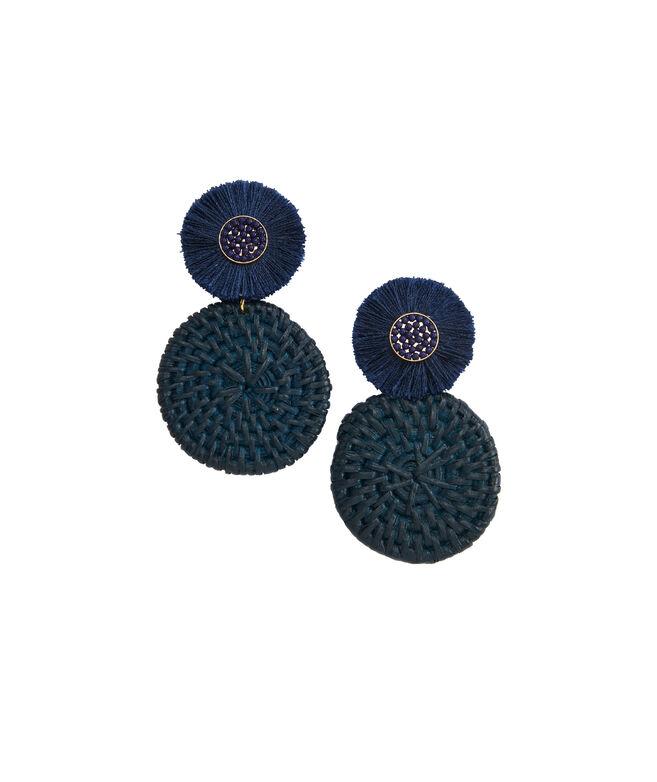Basket Weave Fan Medallion Earrings