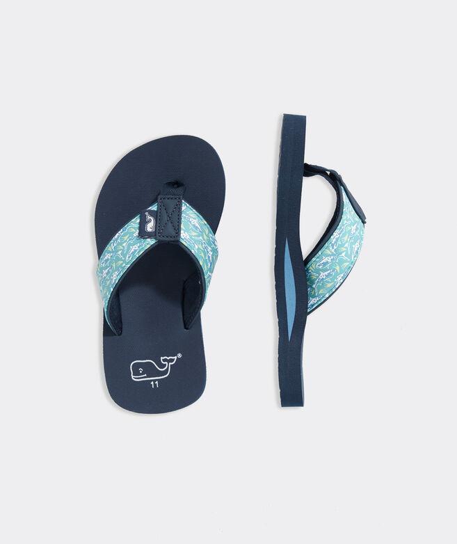 Boys' Shark Batik Classic Flip Flops