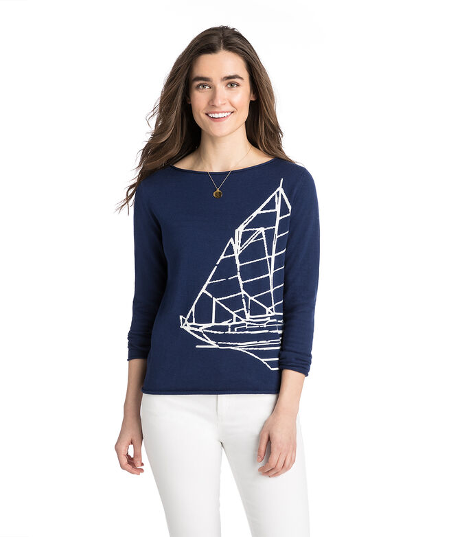 Nautical Intarsia Sweater