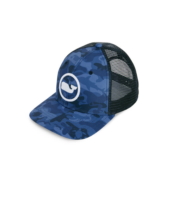 High Profile Flat Brim Camo Trucker Hat