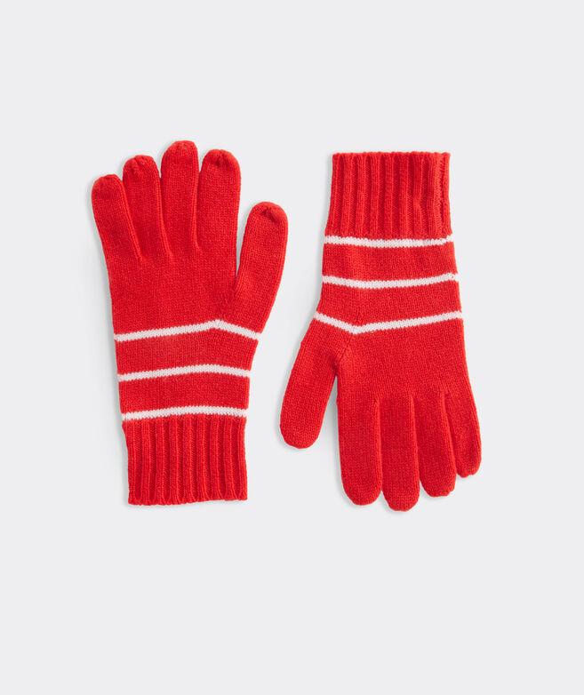 Women's Break Stripe Cashmere Gloves