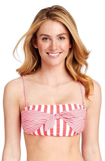 a60c341411f5a Favorite Stripe Tie Front Bandeau Top