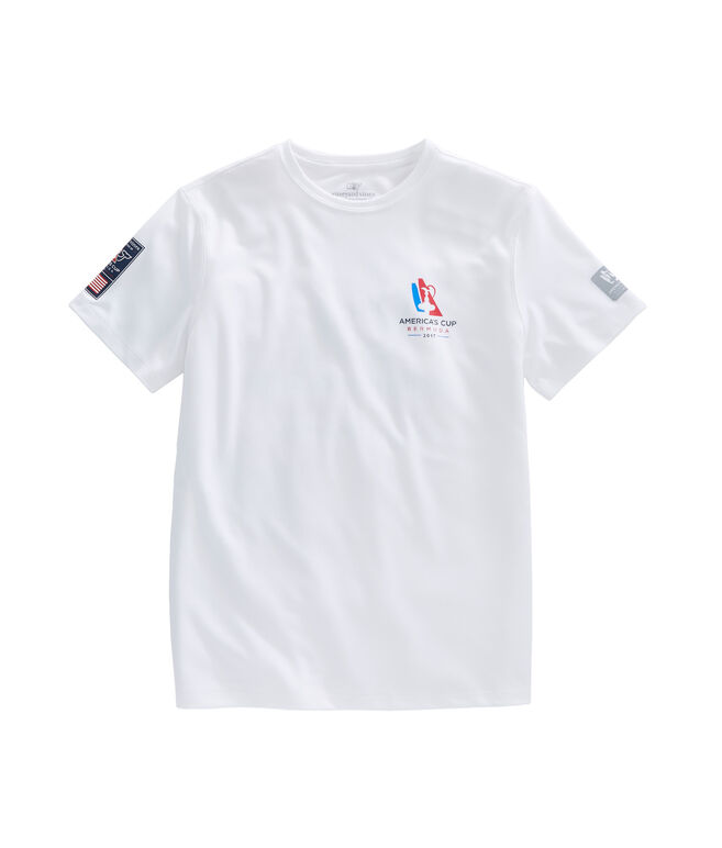 America's Cup Flag Whale Logo Performance T-Shirt