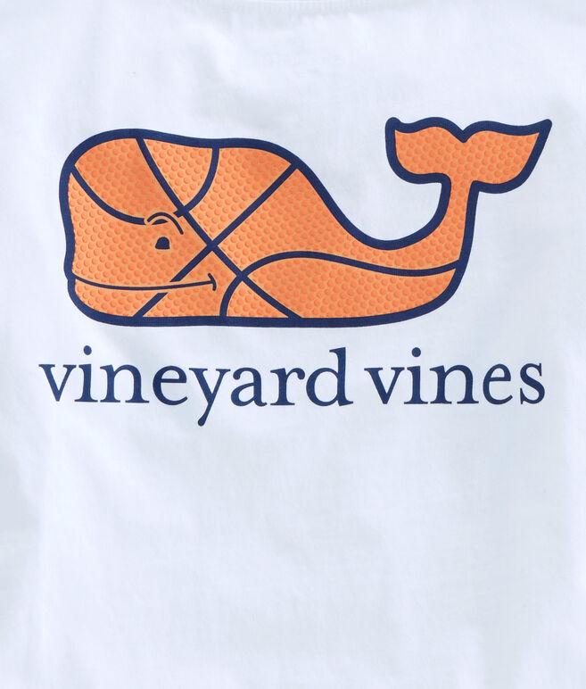 Boys Basketball Character Whale Pocket T-Shirt